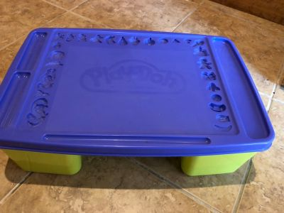 Play-Doh storage box and accessories