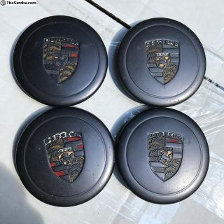Porsche wheel center caps (4)