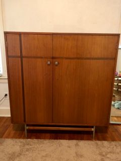 HUGE Vintage Mid Century Modern Gentleman s Chest
