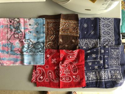 Different Colored Handkerchiefs-5 at $5.00 each