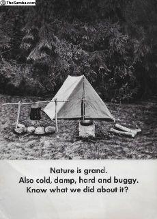 1965 Westfalia Westy Camper Bus Brochure