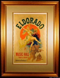 El Dorado Original 1894 Color Lithograph by Jules Cheret
