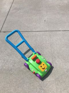 Toddler lawn mower interactive