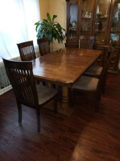 Dinning table + 6chairs +China Cabinet