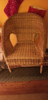 Wicker chair for dolls or kids