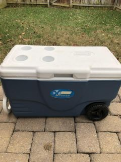 Coleman XTreme 62 Quart Large Wheeled Cooler. Porch Pick up Available. Staples Mill at 295.