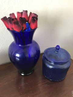 Vase and candy dish
