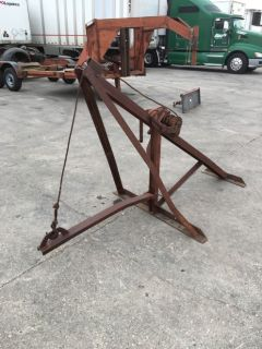 """""""VINTAGE""""  WRECKER BOOM  and  PUSH PLATE BUMPER  -  $600  Rigid boom with HAND CRANK WINCH"""