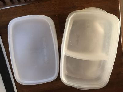 Divided Rubbermaid containers