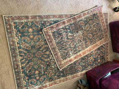 Two throw rugs