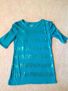 Girls top SiZe 14/16 Teal green