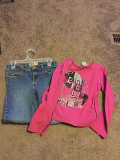 Children s Place Jeans and Long sleeved Shirt