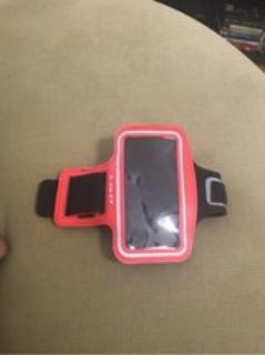 Red arm band case for smart phones