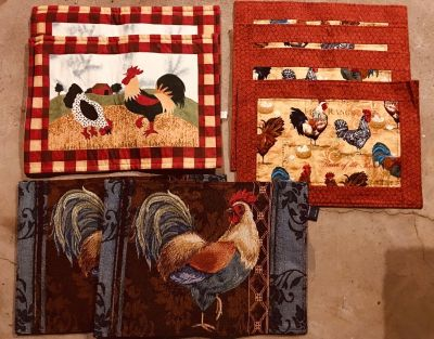 Rooster Chicken place mats