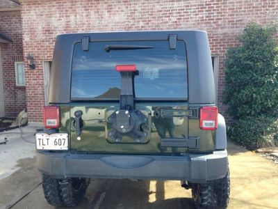 Factory jeep wrangler bumperspare tire holder