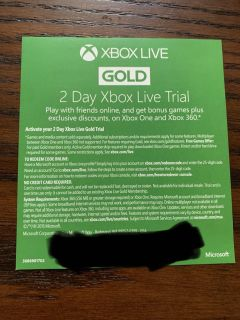 Xbox Live Gold Free Trial