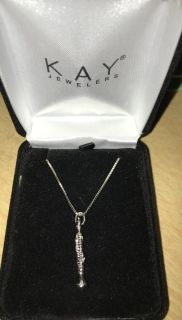 Sterling silver clarinet necklace from Kay marching band
