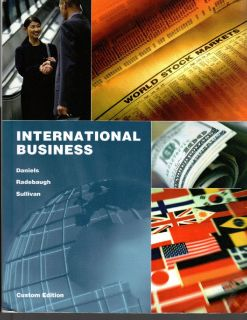International Business by John D. Daniels 2011, ISBN  9781256640349