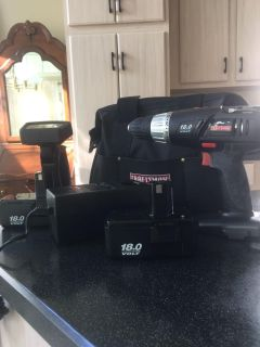 Craftsman cordless drill and work light