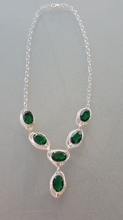 Women's Emerald Stone Necklace - New
