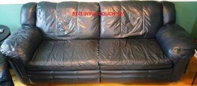 Lane leather reclining couch and sleeper love seat