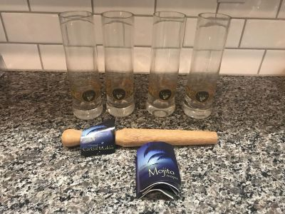 Set of 4 brand new, never used Mojito glasses