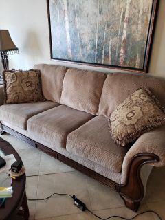 Beautiful Couch and Oversized Chair with Ottoman - like new