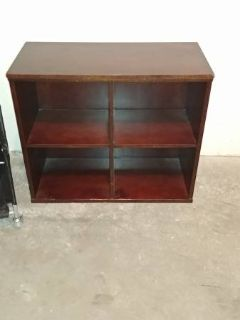 Solid wood dark wood 4 square shelf