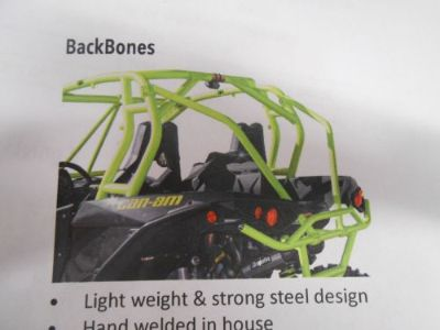 Purchase CAN-AM 2015 MAVERICK X DS MANTA GREEN DRAGONFIRE BACKBONES KIT #520679 motorcycle in Irwin, Pennsylvania, United States, for US $282.00