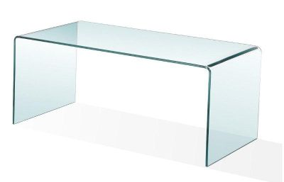 Brand New Sealed Bent Glass Coffee Table