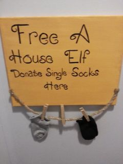 Save the house elves wall hanging