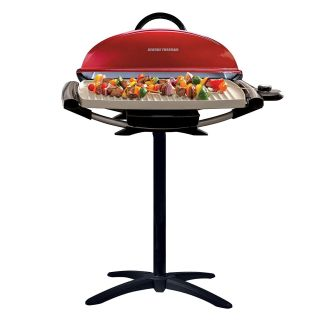 George Foreman 15-Serving Pro Indoor/Outdoor Red Electric Grill