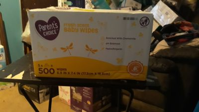 Parents choice fresh scent baby wipes