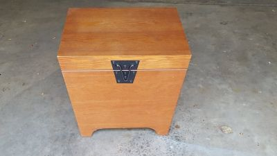 Wood storage end table - Elburn