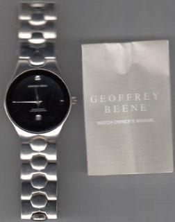 Geoffrey Beene Silver & Black Watch-New !!