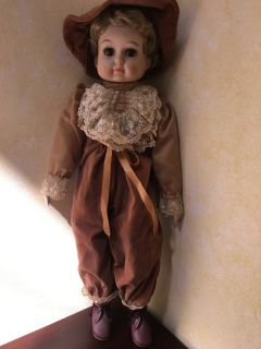 "ELEGANT PORCELAIN DOLL - 23"" TALL"