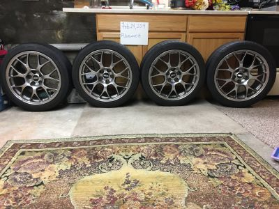 2012 Stock Evo X MR BBS Wheels w/ 245/40-18 Michelin PSS Tires