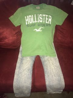 American Eagle jeans Men s 26/28, Hollister shirt small
