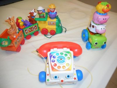 "Fisher Price pull toys and ""stacking"" tractor"