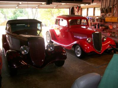 1934 Ford Roadster & 5 Window Coupe