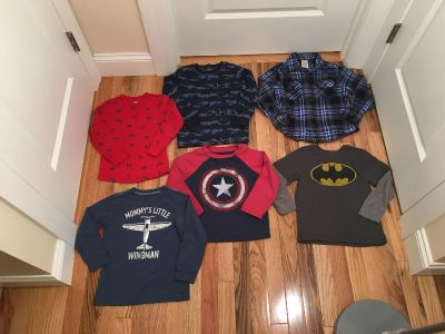 Size 4t Long Sleeve Lot. 1 Flannel Button Up, 2 Thermals. Excellent Condition.