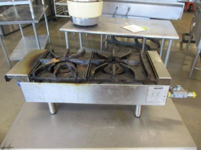 "Imperial 2 Burner Hot Plate, 12"" Nat. Gas RTR#8051519-36"