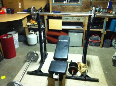 Weights bench  140lb weight