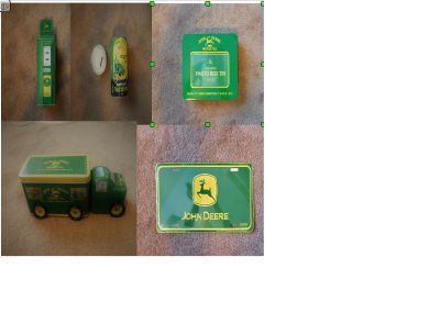 Collectible John Deere Tins -- Click Plus sign to see all 5