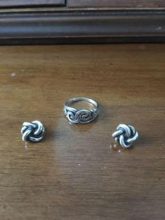 James Avery ring and earrings