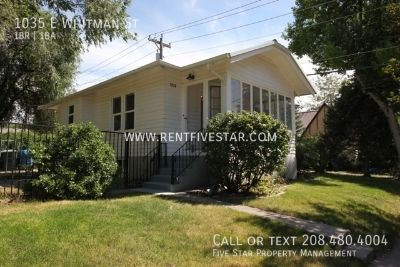 Oh Yes We DID!! OneBR/One BA for $510/MO!! Charming upstairs apartment with handcrafted character in great location near Idaho State University. It also has a convenient enclosed front porch with lots of natural light... perfect for indoor plants!