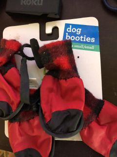 New, dog boots. Free with purchase of another item or $.50