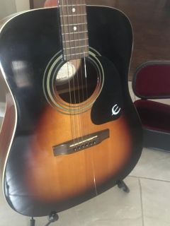 Guitar , case, stand
