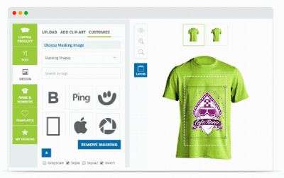 T-shirt Design Software for Magento - Brush Your Ideas