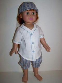 Baseball Uniform for 18 inch doll such as American Girl dolls